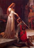Leighton, Edmund Blair: The Accolade. Fine Art Print/Poster. Sizes: A4/A3/A2/A1 (001729)